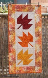 The Salty Quilter - Autumn Leaves - Finished