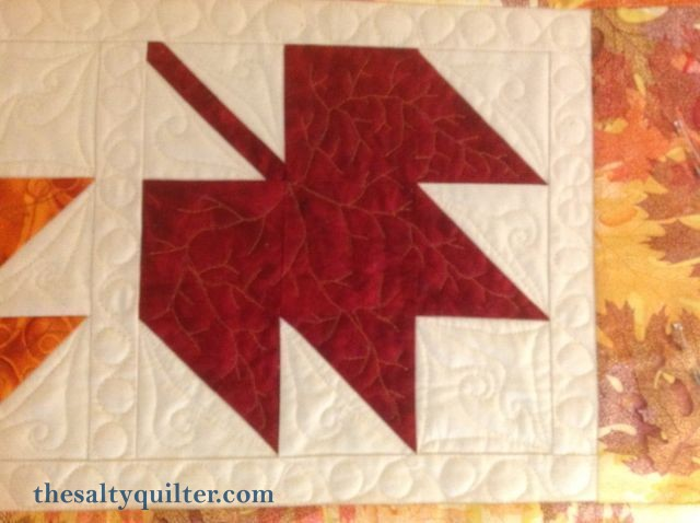 The Salty Quilter - Autumn Leaves - block