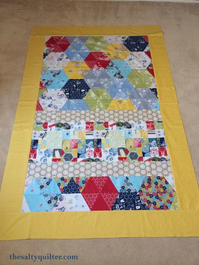 The Salty Quilter - Bee's Knees - Quilt top