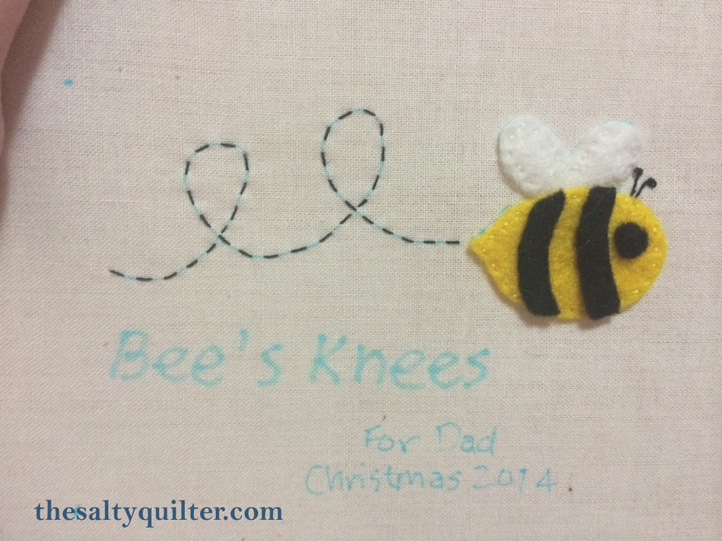 The Salty Quilter - Bee's Knees - label stitchery