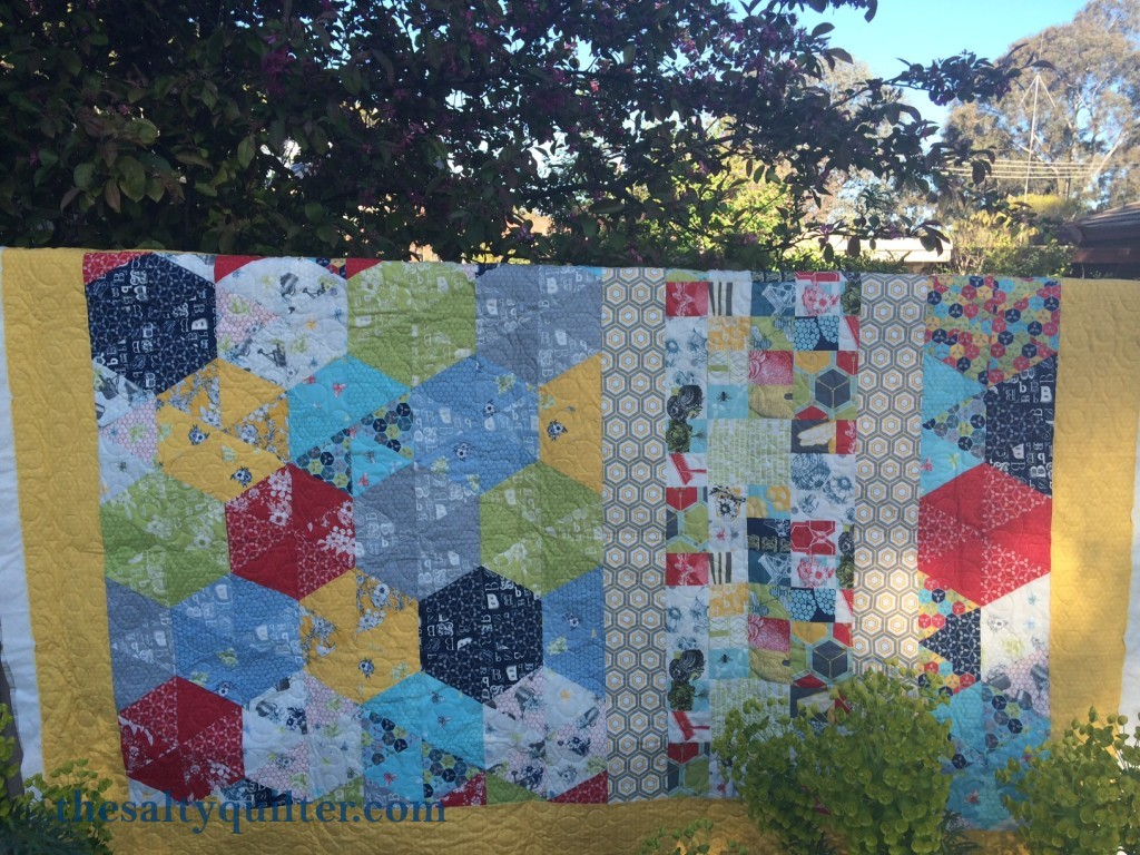 The Salty Quilter - Bee's Knees - Quilting done