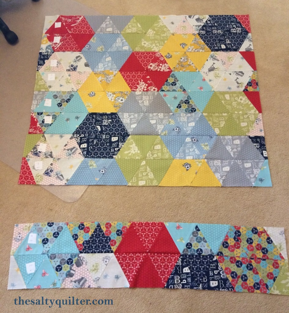 The Salty Quilter - Bee's Knees - quilt sections