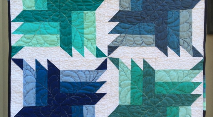 The Salty Quilter - Blue Steel - Finished