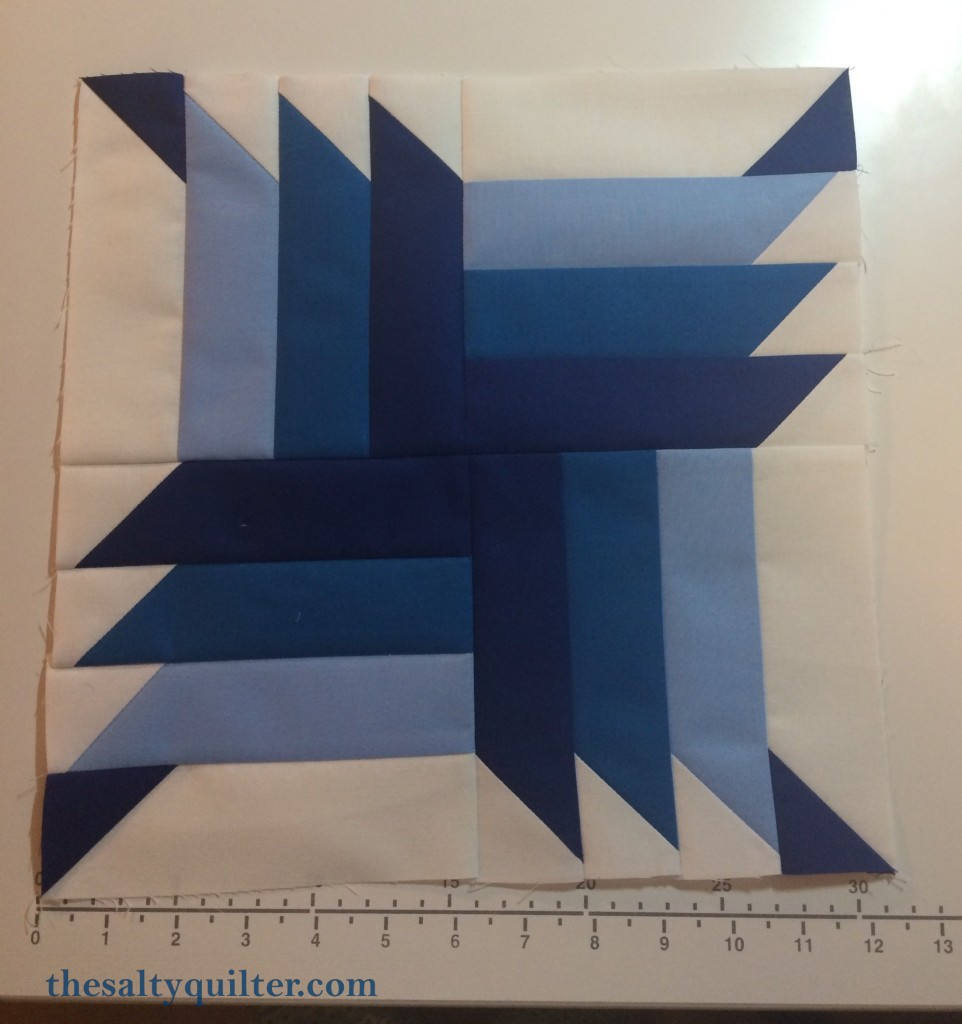 The Salty Quilter - Blue Steel - Block