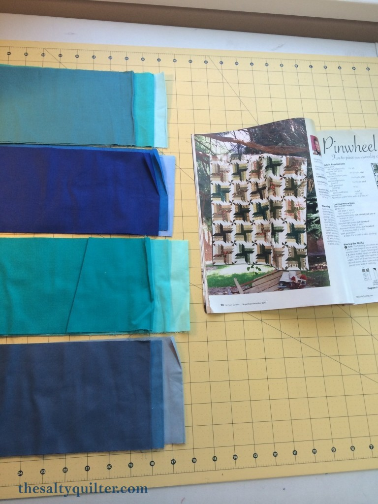The Salty Quilter - Blue Steel - Fabric pull and pattern