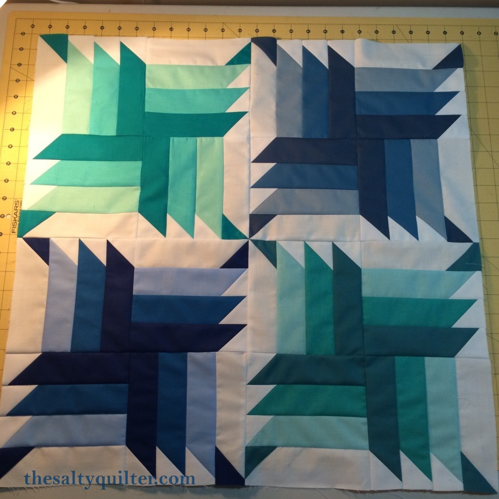 The Salty Quilter - Blue Steel - Quilt top