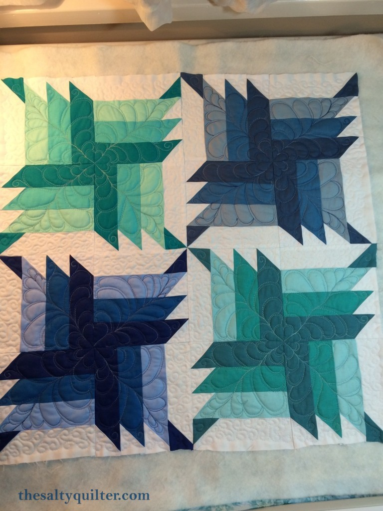 The Salty Quilter - Blue Steel - Quilting done
