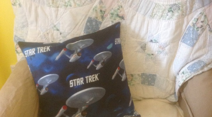The Salty Quilter - Boldly Go Pillow - Front