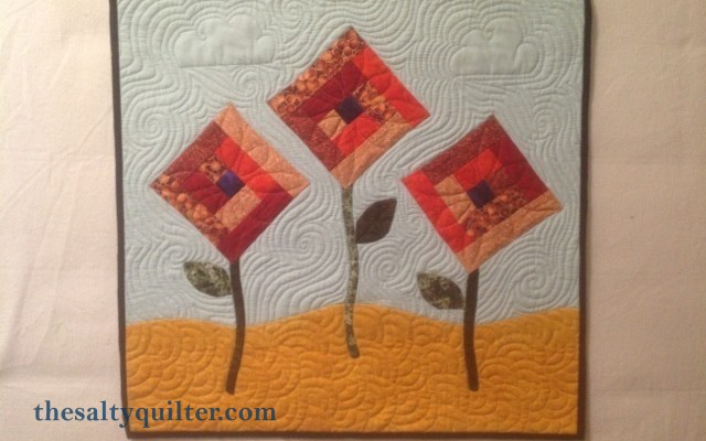 The Salty Quliter - Fall Flowers - Finished