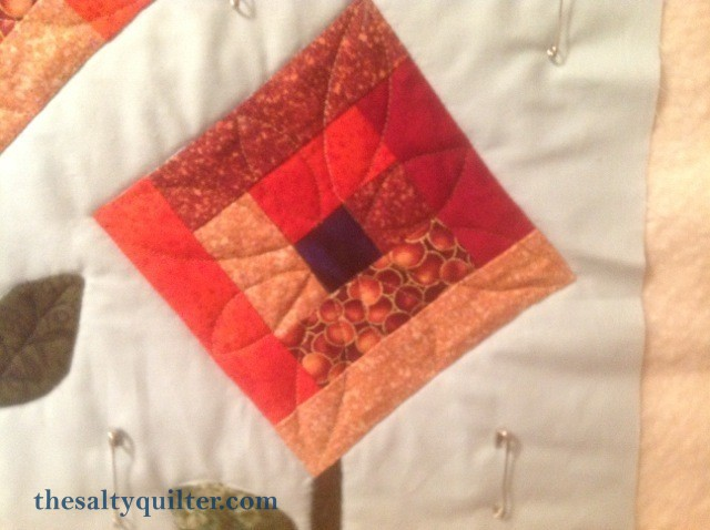 The Salty Quliter - Fall Flowers - flower quilting