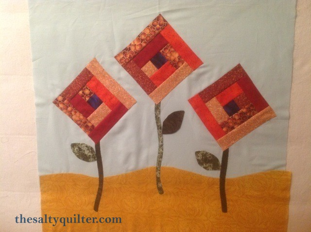 The Salty Quliter - Fall Flowers - quilt top