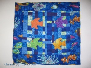The Salty Quilter - Fish Wall Hanging - My First Quilt