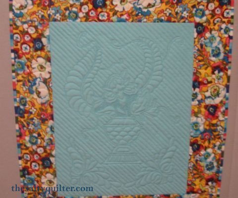 The Salty Quilter - Flowers and Feathers - Finished