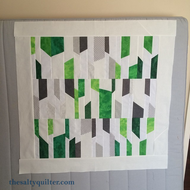Forest in the Fog - Quilt top