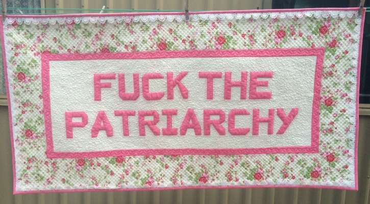 Fuck the Patriarchy Quilt - Finished