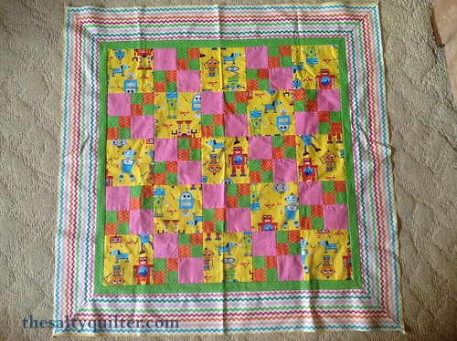 The Salty Quliter - Girlie Robots - Quilt top