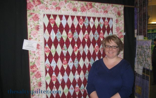 The Salty Quilter - Grandma's Roses - At the show