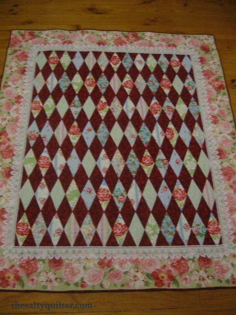The Salty Quilter - Grandma's Roses - Finished