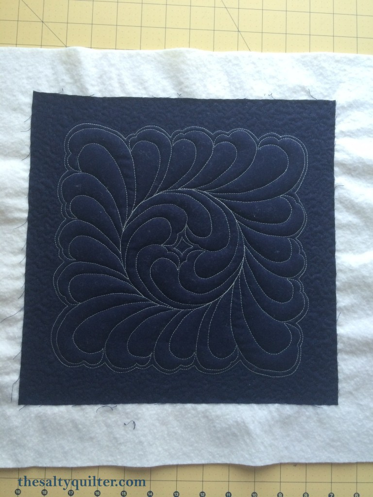 The Salty Quilter - Hanawa - stylised fern