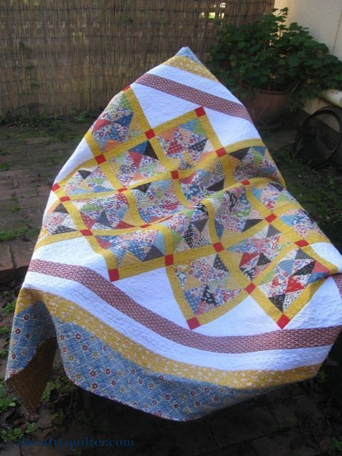 The salty Quilter - Hazel's Pinwheels - Over a chair