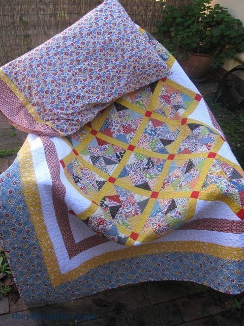 The salty Quilter - Hazel's Pinwheels - With pillowcase