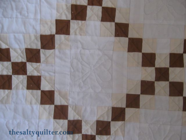 The Salty Quilter - Organic Double Irish Chain - Block quilting