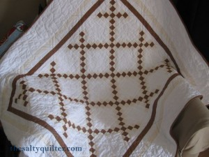The Salty Quilter - Organic Double Irish Chain - Finished