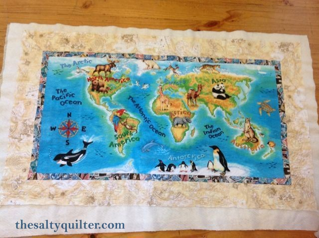 The Salty Quilter - Jack's World - before binding