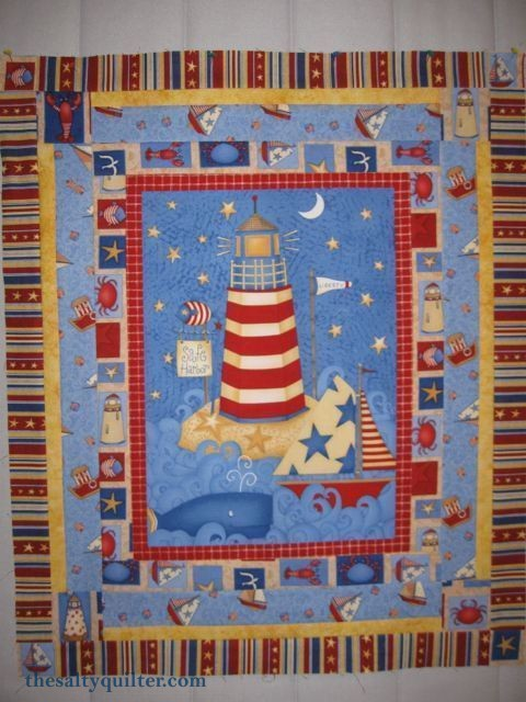 The Salty Quilter - Lighthouse Wallhanging