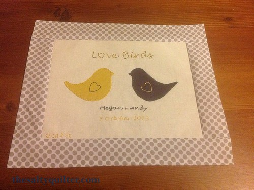 The Salty Quilter - Love Birds - Label