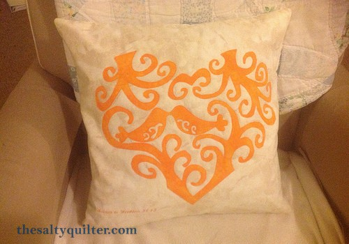 The Salty Quilter - Love Birds Pillow