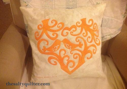 The Salty Quilter - Love Birds Pillow