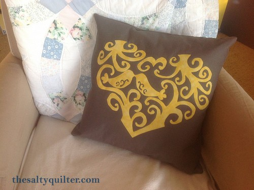 The Salty Quilter - Love Birds - Matching Pillow