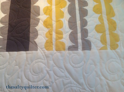 The Salty Quilter - Love Birds - Quilting