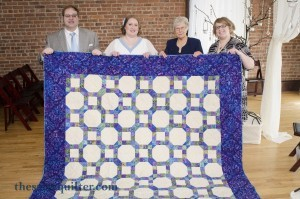 The Salty Quilter - Modern Wedding Ring - Presenting the finished quilt