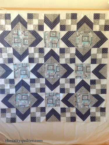 The Salty Quilter - Mystery Train - block layout