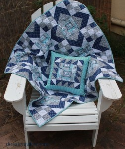 The Salty Quilter - Mystery Train - Finished with pillow