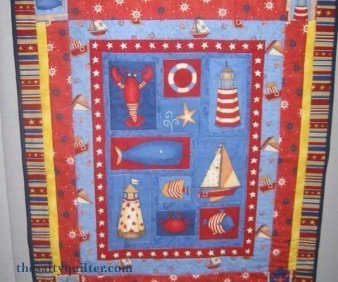 The Salty Quilter - Nautical Wallhanging