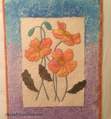 The Salty Quilter - Painted Poppies - Finished