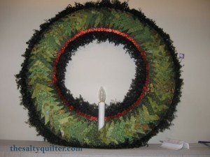 The Salty Quilter - Pinwheel Wreath