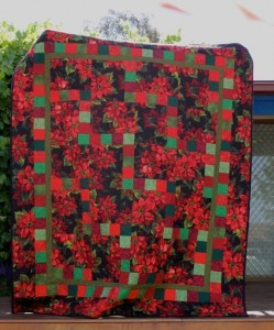 The Salty Quilter - Poinsettia Quilt - Finished