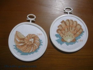 The Salty Quilter - Shell Cross Stitch
