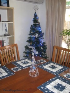 The Salty Quilter - Snow Star Table Setting - At the table