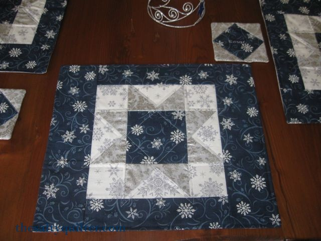 The Salty Quilter - Snow Star Table Setting - Placemat