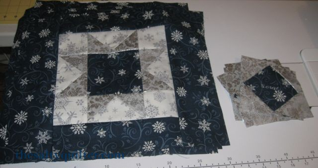 The Salty Quilter - Snow Star Table Setting - tops
