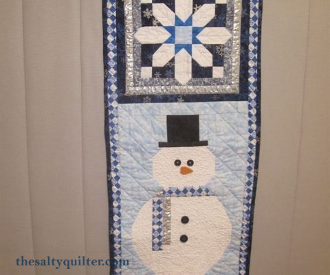 The Salty Quilter - Snowman Door Hanger - Finished