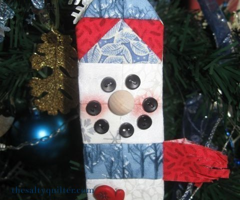 The Salty Quilter - Snowman Ornament