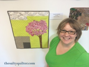 The Salty Quilter - Springtime in Greenslopes - Hanging at the comp