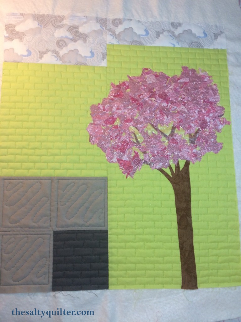 The Salty Quilter - Springtime in Greenslopes - Quilting done