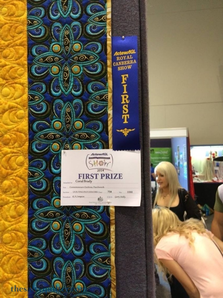 The Salty Quilter - Star of India - Canberra show first prize